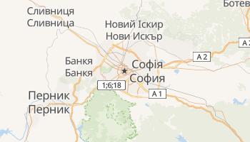 Софія - детальна мапа