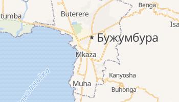Бужумбура - детальна мапа
