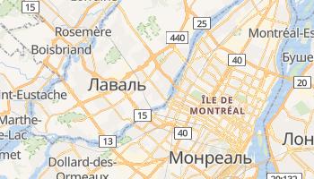 Лаваль - детальна мапа