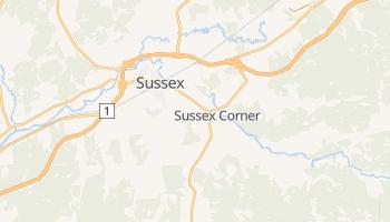 Суссекс - детальна мапа