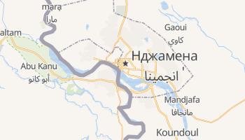 Н'Джамена - детальна мапа