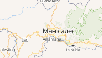 Манісалес - детальна мапа