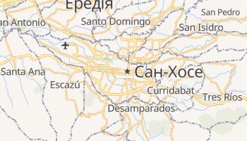 Сан-Хосе - детальна мапа