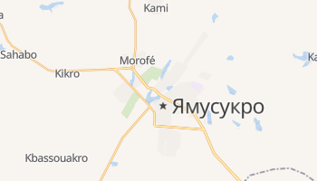 Ямусукро - детальна мапа