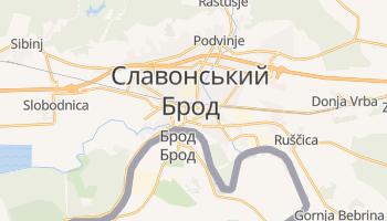 Славонський Брод - детальна мапа