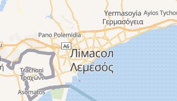 Лімасол - детальна мапа