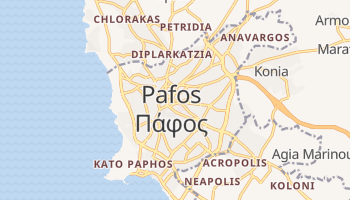 Пафос - детальна мапа