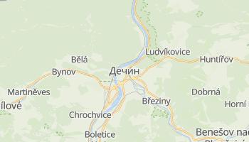 Дечин - детальна мапа