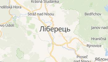 Ліберець - детальна мапа