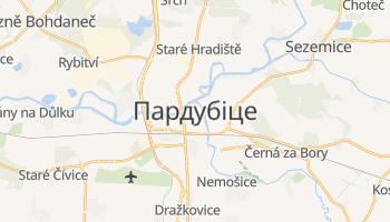 Пардубіце - детальна мапа