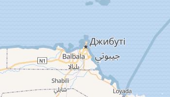 Джібуті - детальна мапа