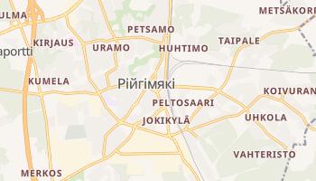 Рійгімякі - детальна мапа