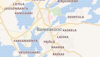 Валкеакоскі - детальна мапа