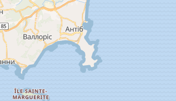 Антіб - детальна мапа