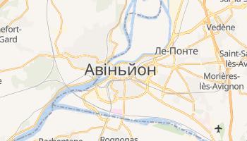 Авіньйон - детальна мапа