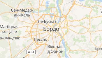 Бордо - детальна мапа