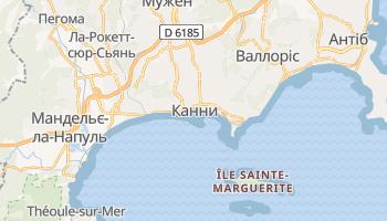 Канни - детальна мапа