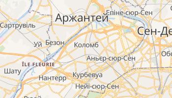 Коломб - детальна мапа