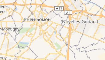 Енен-Бомон - детальна мапа
