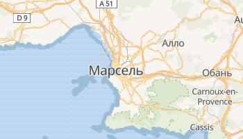 Марсель - детальна мапа