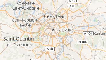 Париж - детальна мапа
