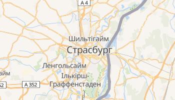 Страсбур - детальна мапа