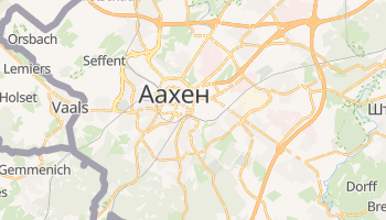 Аахен - детальна мапа
