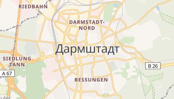 Дармштадт - детальна мапа