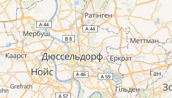 Дюссельдорф - детальна мапа