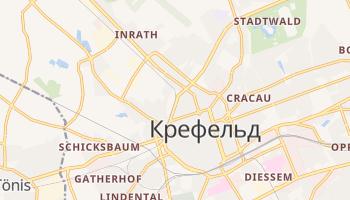 Крефельд - детальна мапа