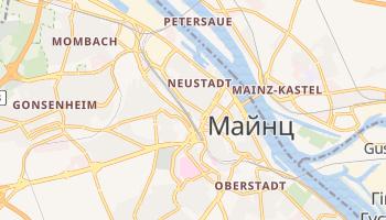 Майнц - детальна мапа