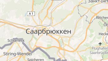 Саарбрюкен - детальна мапа