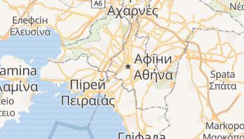 Афіни - детальна мапа
