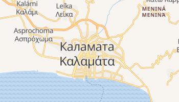 Каламата - детальна мапа