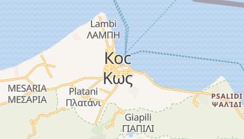 Кос - детальна мапа