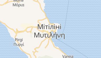 Мітіліні - детальна мапа