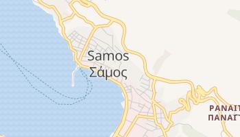 Самос - детальна мапа