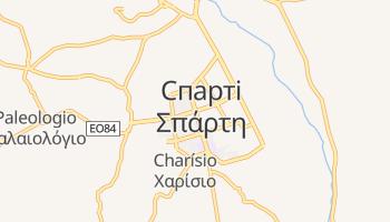 Спарта - детальна мапа
