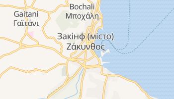 Закінф - детальна мапа