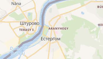 Естерґом - детальна мапа