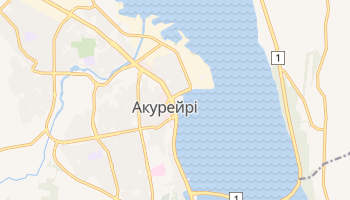 Акурейрі - детальна мапа