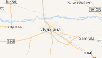 Лудхіяна - детальна мапа