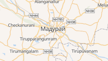 Мадурай - детальна мапа