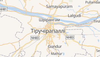 Тіручірапаллі - детальна мапа