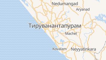 Тируванантапурам - детальна мапа