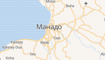 Манадо - детальна мапа