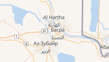 Басра - детальна мапа