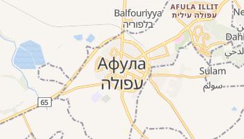 Афула - детальна мапа