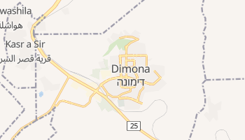 Дімона - детальна мапа