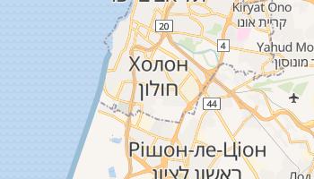 Холон - детальна мапа